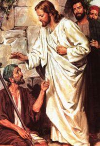 Jesus and leper
